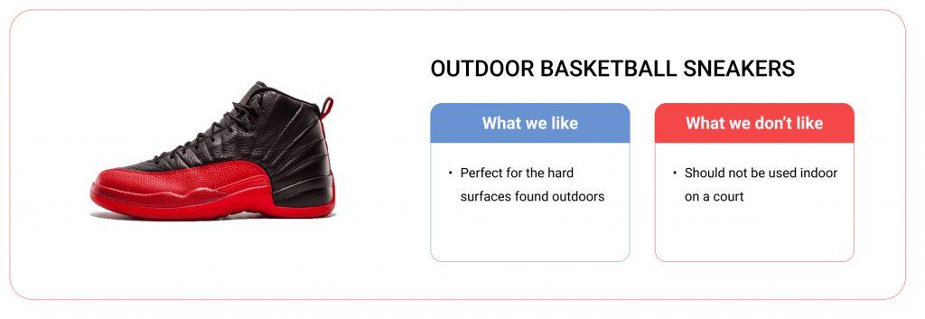 outdoor basketball sneakers